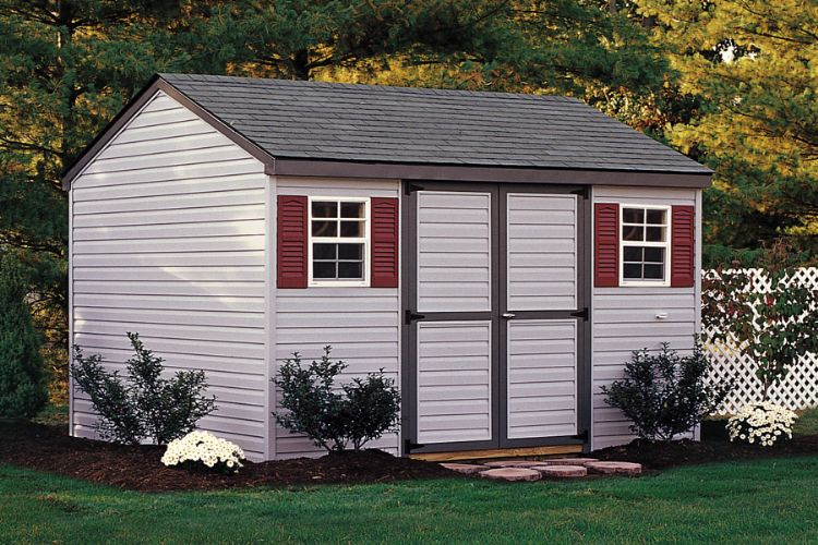 a frame workshop with vinyl siding 10x14 run in shed in yorkpa
