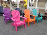 Poly FOLDING Fanback Chairs with Cup Holder, TROPICAL COLORS - IN STOCK!