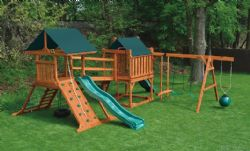 Wood Playset Deluxe Climbing & Contemporary Towers