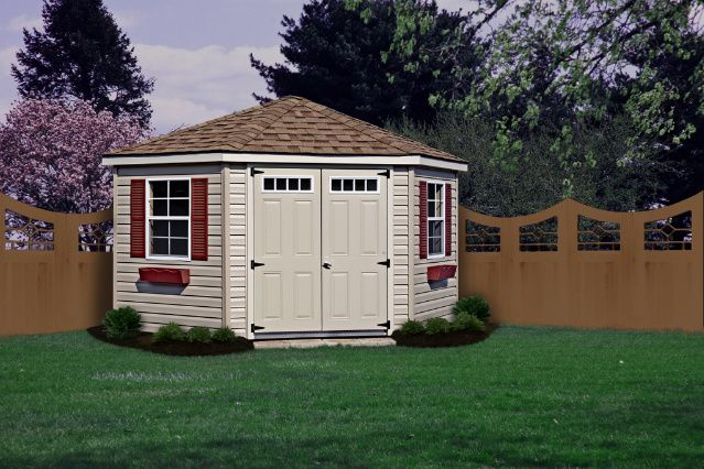 Corner Shed 5 Sided Shed Backyard Storage Sheds from Foxs Country – 5 Sided Garden Shed Plans