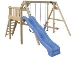 Wood Playset A-Frame Swingset