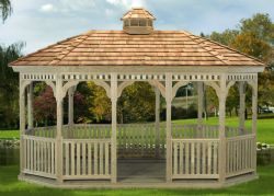 Oval Gazebo, Wood #16