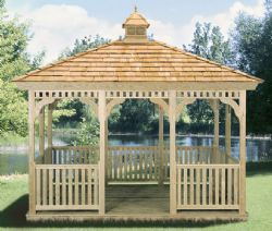 Rectangle Gazebo, Wood #9
