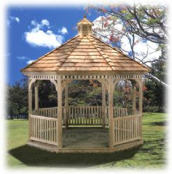 Octagon Classic Gazebo, Wood #2