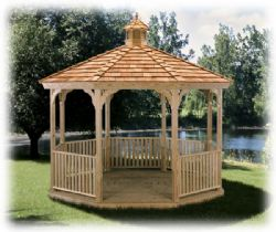 Octagon Elegant Gazebo, Wood, #6
