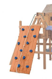 Wood Playset Contemporary Tower with Climber