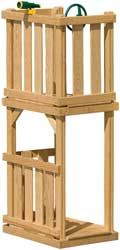 Wood Playset Climbing Tower, Lookout & Hideout