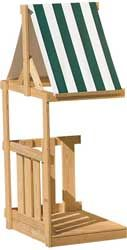 Wood Playset Climbing Tower, Porch & Hideout
