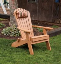 Poly FOLDING/Reclining Adirondack Chair w/ Pullout Ottoman, IN STOCK!